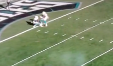 Dolphins' Pathetic Kickoff Return Leads To Safety (Video)