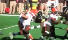 This Vicious Facemask On Johnny Manziel Is One Of the Worst You'll Ever See (Video)