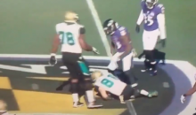 Jaguars Player Gets Picked Up and Slammed Hard To the Ground By Will Hill (Video)