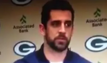 Aaron Rodgers Calls Out Fan For Yelling Racist Comments During Moment Of Silence (Video)