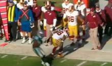 Jay Gruden Makes Crazy One-Handed Grab On Sideline (Video)