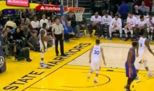 Steph Curry Bounces Inbounds Pass off Draymond Green, To Himself (Video)