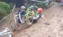 This Muddy Hill Sends Cyclecross Racers Slowly Sliding Off the Course (Video)