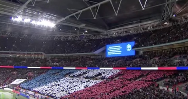 Wembley Stadium Sings French National Anthem