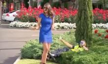 Australian Horse Racing Fan Inexplicably Shoves Cop Into Flower Bed, Explicably Gets Arrested (Video)