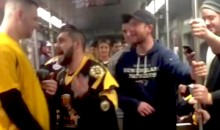 Bruins Fans Brawl Amongst Themselves On Subway After Game (Video)