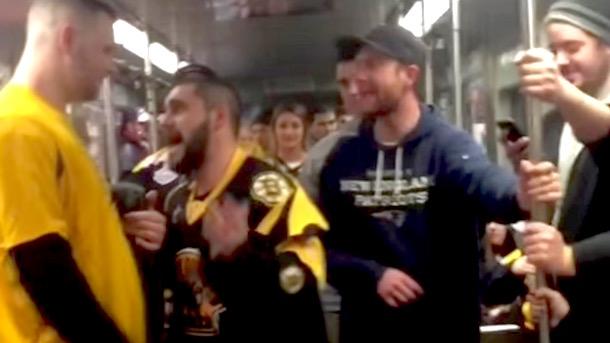 bruins fans brawl bruins subway brawl