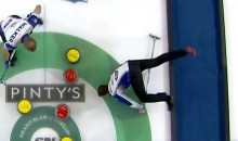 Canadian Curler Faceplants on Ice, Gets Seven Stitches, Returns to Game (Video)