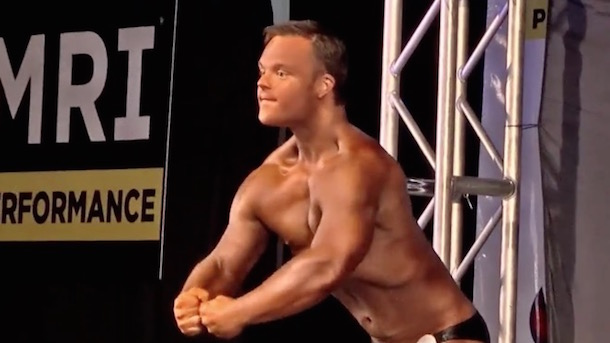 collin clarke man with down syndrome obesity depression bodybuilding competition