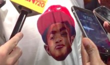 Derrick Rose Was Wearing A T-Shirt With His Son's Face On It Thursday Night (Video)