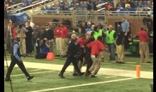 Animal Rights Activists Stormed The Field During Lions-Eagles Game (Vid)