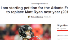 Falcons Fan Starts Petition To Get Rid Of Matt Ryan Next Year