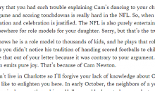 A Response To The Tennessee Mom Who Wrote Scathing Letter To Cam Newton