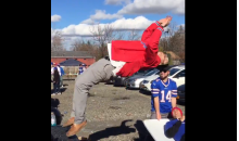 Bills Fans Are Back, Drunk And Destroying Tables (Vid)