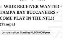 Buccaneers Fan Puts Help Wanted Ad On Craigslist For A WR (Pic)