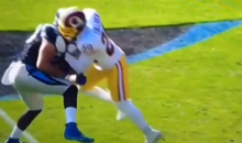 Washington has Pick Six Called Back Because of Helmet-to-Helmet Hit (Vid)