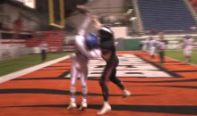 High School Player Clancy Cockerham Highlight Reel, One-Handed TD Reception (Vid)