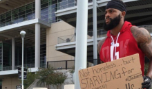 Free Agent WR Holds 'Play For Food' Sign Outside Houston Texans Facility