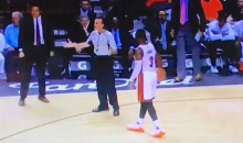 Dwyane Wade Stares Down Ref Until He Calls a Foul (Video)