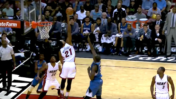 hassan whiteside triple double hassan whiteside block party