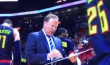 Hawks Players Just Walk Away From Coach Mike Budenholzer As He's Drawing Up A Play (Video)