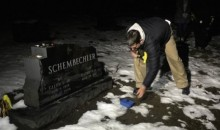 Jim Harbaugh Smashed a Buckeye Nut with a Hammer on the Grave of Legendary Michigan Coach Bo Schembechler