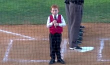 Kid Gets Hiccups While Singing Australian National Anthem, Keeps Going Like a Pro (Video)