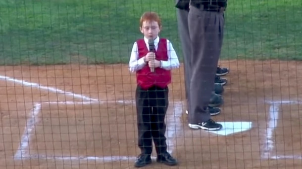 kid gets hiccups while singing australian national anthem