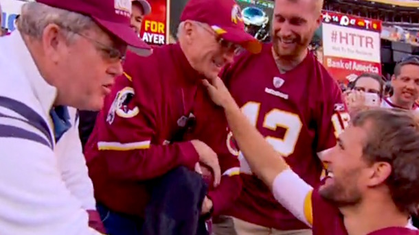 kirk cousins gives dad the game ball