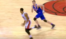 Knicks Tried Hack-A-Whiteside, But Kristaps Porzingis Was Too Slow To Catch Him (Video)
