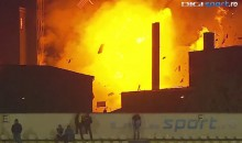 Holy Sh*t: Romanian Soccer Match Suspended After Nearby Building EXPLODES (Video)