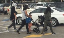 Steph Curry Went To The Mall With His Wife And Kids On Sunday…Wearing A Zebra Mask (Pic + Video)