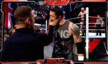 Wayne Rooney Slapped Wade Barrett In The Face On 'Monday Night Raw' (Video)