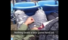 Are These Bills Fans Giving Handjobs or Warming Their Hands? (Pics + Video)