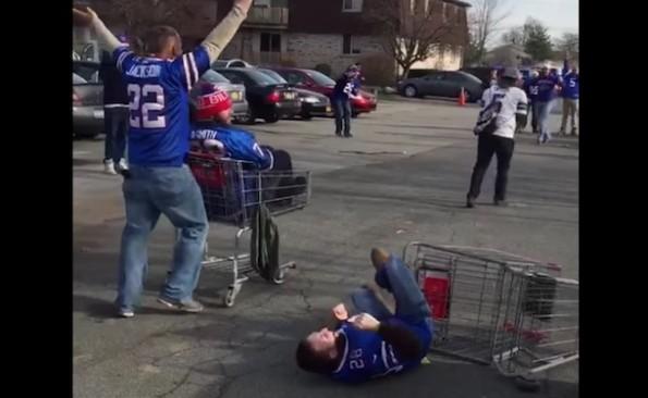 Bills Fans Shopping Cart Bumper Cars