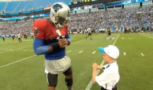 6-Year-Old Cancer Patient Braylon Beam Gives Cam Newton Valuable Throwing Tips (Video)