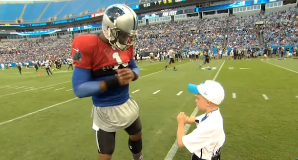 Braylon Beam Give Cam Newton Tips
