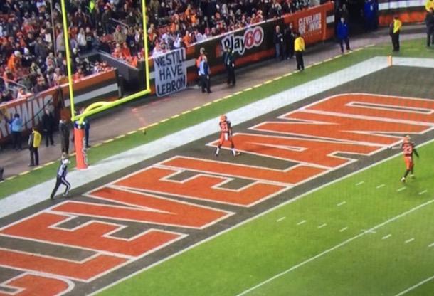 Browns fan Sign - We Still Have LeBron 1