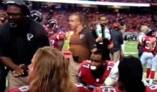 Falcons Defensive Coach Yells at Water Boy On The Sidelines (Video)