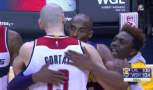Fan Runs On The Court To Hug Kobe, Top Flight Security Escorts Him Away (Vid)