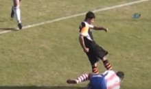 Soccer Player Kicks Opponent in the Face, Charged With Attempted Manslaughter (Vid)