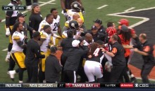 Bengals & Steelers Players Fight During Pregame (Video)