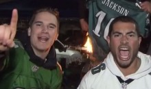 Eagles Fans burned DeSean Jackson's Jersey Before The Game (Video)