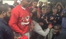 Cam Newton, Kevin Hart and Ice Cube Bench-Press in Ugly Christmas Sweaters (Video)