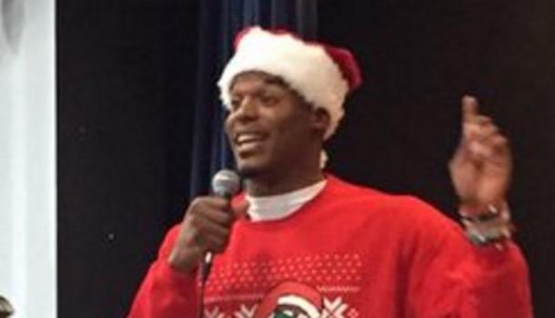 cam newton santa dabbing sweater