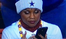Lady Cheering For Cowboys AND Redskins Is a Complete Mess (Pic)
