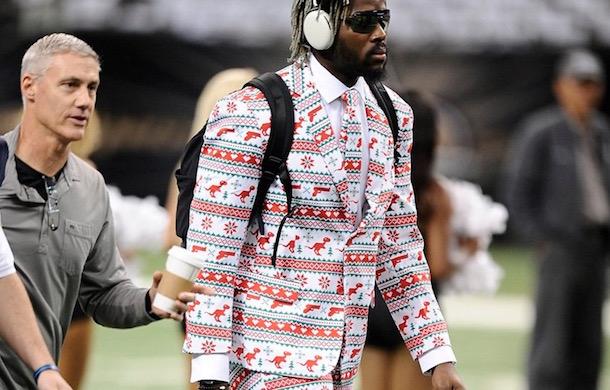 Devin Taylor Christmas Suit