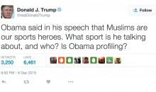 Donald Trump Blasts Obama with 'Muslim Sports Heroes' Tweet, Internet Responds (Tweets)