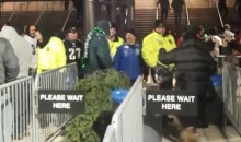 Eagles Fan Tries To Sneak Christmas Tree Into Stadium, Fails (Video)
