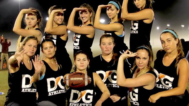 FSU sorority girl michelle roque flag football highlight tape
